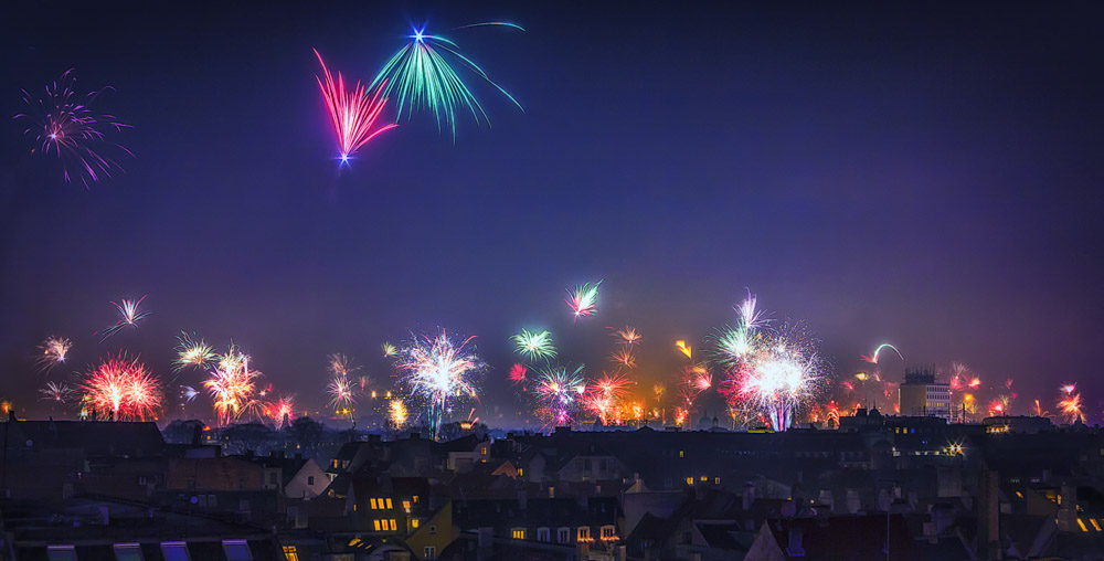 Nytårs nat over København Centrum 2013-2014